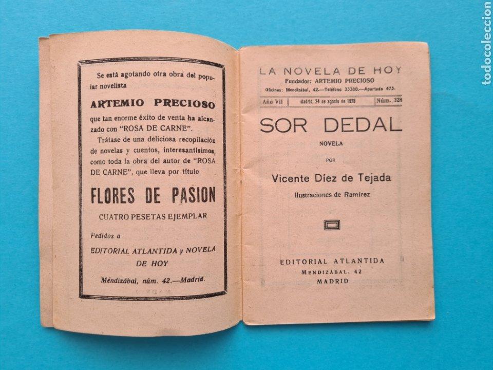 Libros antiguos: SOR DEDAL - VICENTE DIEZ DE TEJADA - COL. LA NOVELA DE HOY Nº 328 AÑO 1928 ILUSTRACIONES DE RAMIREZ - Foto 3 - 254181690