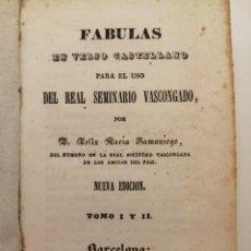 Libros antiguos: FABULAS DE SAMANIEGO E IRIARTE, BARCELONA PIFERRER 1843, TAPA PIEL. Lote 254399985