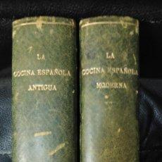 Livros antigos: LA COCINA ESPAÑOLA ANTIGUA / LA COCINA ESPAÑOLA MODERNA . 2 TOMOS CONDESA PARDO BAZAN. Lote 254407175
