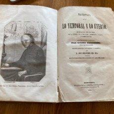 Livros antigos: DIFERENCIA ENTRE LO TEMPORAL Y LO ETERNO - JUAN EUSEBIO NIEREMBERG - 1856. Lote 254488410