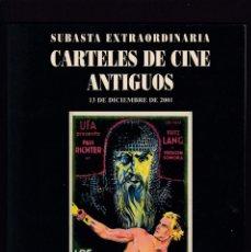 Libros antiguos: CARTELES DE CINE ANTIGUOS - CATALOGO SUBASTA - SOLER Y LLACH / DICIEMBRE 2001. Lote 254597685