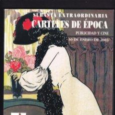 Libros antiguos: CARTELES DE PUBLICIDAD Y CINE ANTIGUOS - CATALOGO SUBASTA - SOLER Y LLACH / ENERO 2003. Lote 254598480