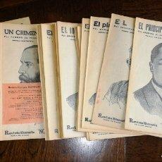 Libros antiguos: NOVELAS Y CUENTOS- REVISTA ILUSTRADA. 1930. LOTE DE 43 UNIDADES. ENVIO CERTIFICADO INCLUIDO.. Lote 254762810