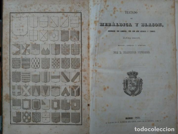 Libros antiguos: Tratado de Heráldica y Blason. 1885/1887 - Foto 2 - 254770140