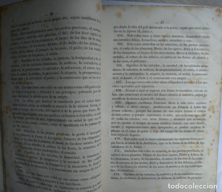 Libros antiguos: Tratado de Heráldica y Blason. 1885/1887 - Foto 4 - 254770140