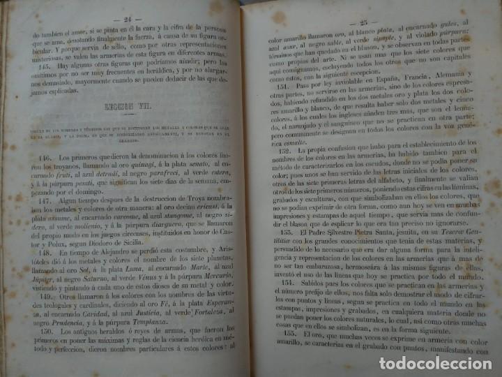 Libros antiguos: Tratado de Heráldica y Blason. 1885/1887 - Foto 6 - 254770140