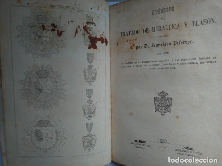 Libros antiguos: Tratado de Heráldica y Blason. 1885/1887 - Foto 7 - 254770140