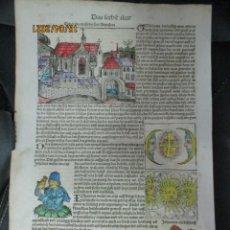Libros antiguos: CRONICAS DE NUREMBERG 1493 , SAN AGUSTINOS EN ALEMAN ANTIGUO. Lote 254854890