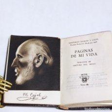 Libros antiguos: SANTIAGO RAMÓN Y CAJAL. PÁGINAS DE MI VIDA. CRISOLÍN. 1ª EDICIÓN. 1954. AGUILAR. MADRID.. Lote 255020430
