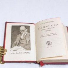 Libros antiguos: JUAN RAMÓN JIMÉNEZ. PLATERO Y YO. CRISOLÍN. Nº7. 1ª EDICIÓN.1953. AGUILAR. MADRID.. Lote 255021090