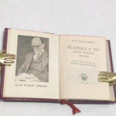 Libros antiguos: JUAN RAMÓN JIMÉNEZ. PLATERO Y YO. CRISOLÍN. Nº7. 1ª EDICIÓN.1953. AGUILAR. MADRID.. Lote 255024385
