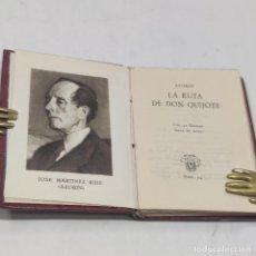 Libros antiguos: AZORÍN. LA RUTA DE DON QUIJOTE. CRISOLÍN. Nº4. 1ª EDICIÓN. 1951. AGUILAR. MADRID.. Lote 255024840