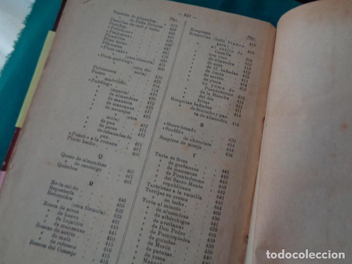 Libros antiguos: COCINA. LA COCINA PRÁCTICA, PUGA Y PARGA,MANUEL MARÍA (PICADILLO) - Foto 5 - 255484825