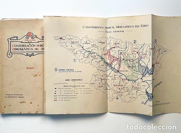 CONFEDERACIÓN HIDROGRÁFICA DEL EBRO (1931) ALMUDÉVAR, ALCALÁ DE GURREA, GÁLLEGO, MONZÓN, ETC. (Libros Antiguos, Raros y Curiosos - Ciencias, Manuales y Oficios - Otros)