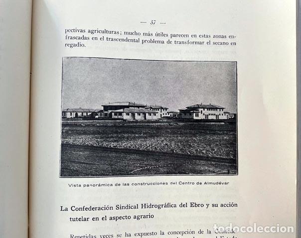 Libros antiguos: Confederación Hidrográfica del Ebro (1931) Almudévar, Alcalá de Gurrea, Gállego, Monzón, Etc. - Foto 4 - 255520680
