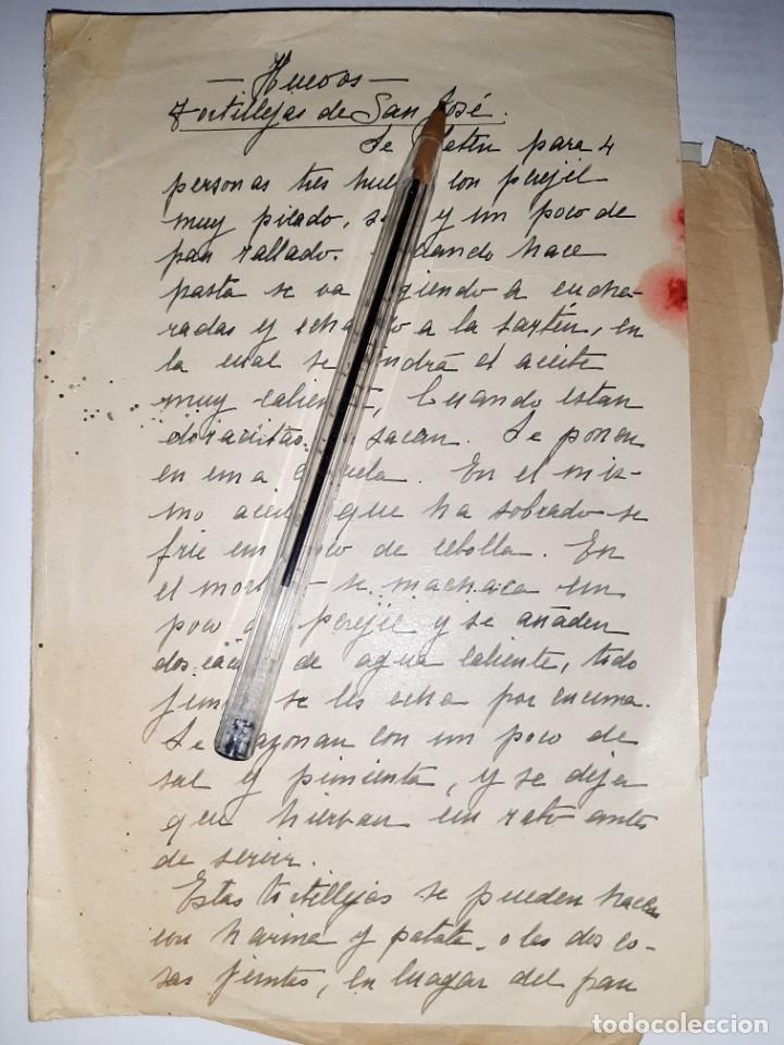 Libros antiguos: COCINA. REPOSTERÍA. Siglo XIX. Recetas caseras compartidas entre mujeres: magdalenas, arroz, sopas - Foto 2 - 255532270