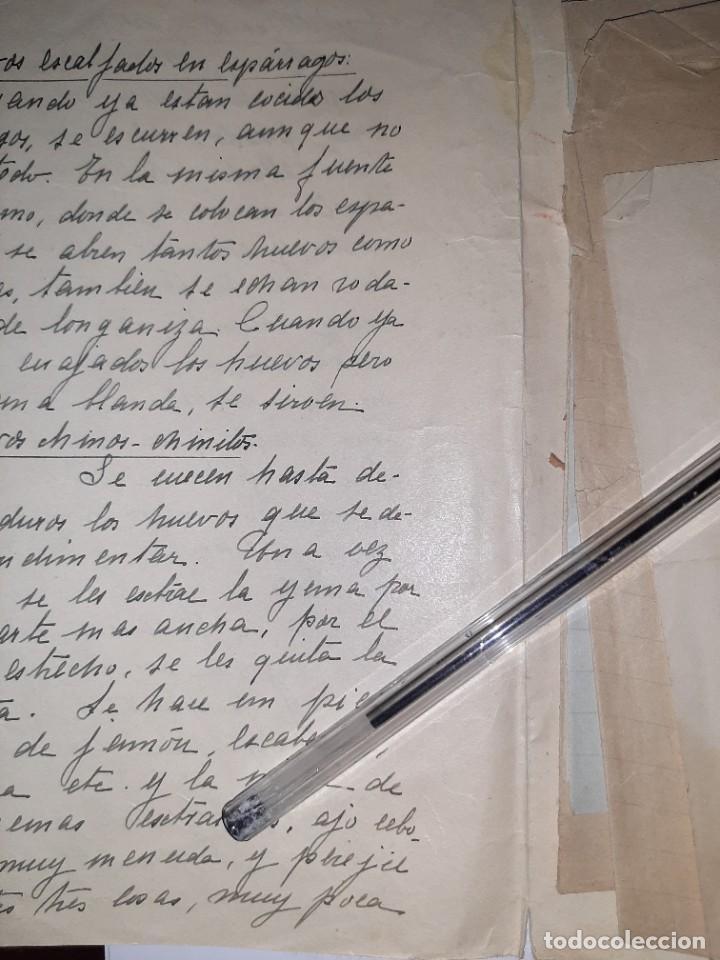 Libros antiguos: COCINA. REPOSTERÍA. Siglo XIX. Recetas caseras compartidas entre mujeres: magdalenas, arroz, sopas - Foto 3 - 255532270