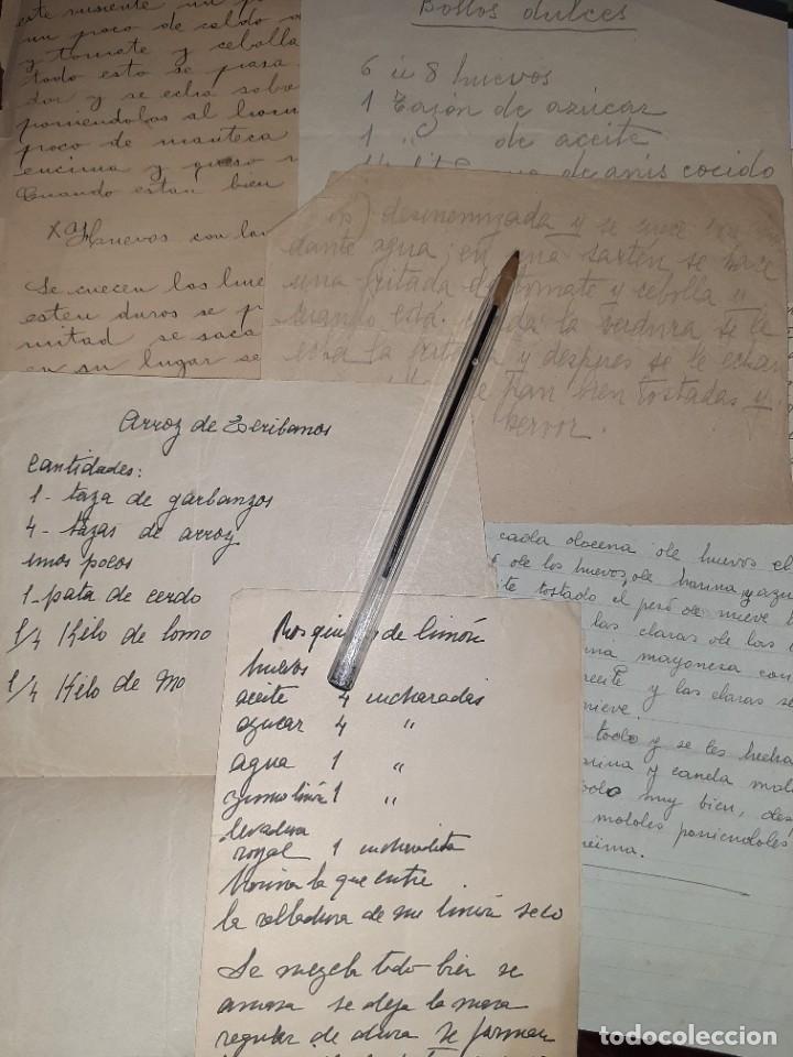 COCINA. REPOSTERÍA. SIGLO XIX. RECETAS CASERAS COMPARTIDAS ENTRE MUJERES: MAGDALENAS, ARROZ, SOPAS (Libros Antiguos, Raros y Curiosos - Cocina y Gastronomía)