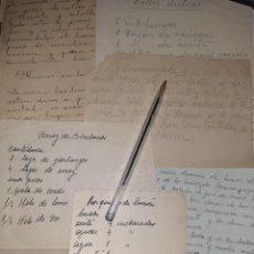 Libros antiguos: COCINA. REPOSTERÍA. SIGLO XIX. RECETAS CASERAS COMPARTIDAS ENTRE MUJERES: MAGDALENAS, ARROZ, SOPAS. Lote 255532270