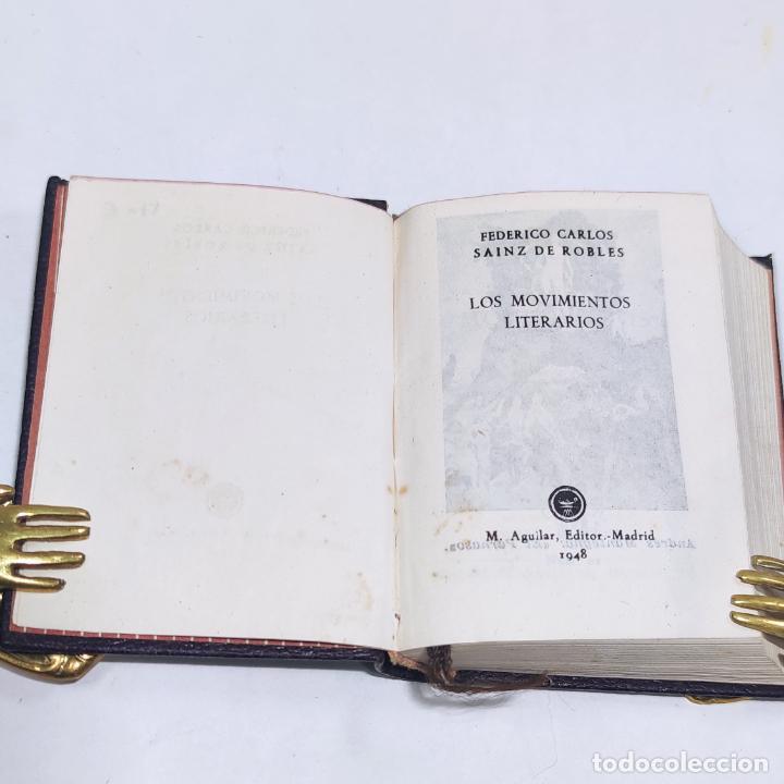 Libros antiguos: Los movimientos literarios. F Sainz de Robles. Crisolín. Nº1. 1ª edición. 1948. Aguilar. Madrid. - Foto 3 - 255634290