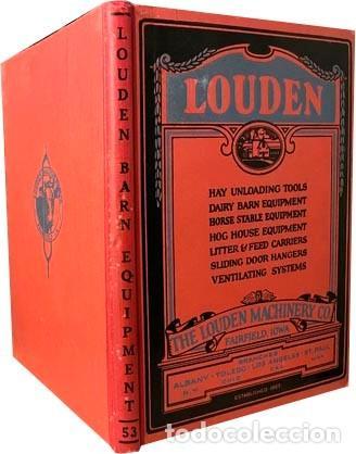 Libros antiguos: Catálogo THE LOUDEN MACHINERY nº 53. 1928. Herramientas para establos. Instrumentos. Lechería. - Foto 2 - 255996335