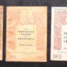 Libros antiguos: LOT 5 POMPEU FABRA COL·LECCIÓ POPULAR BARCINO 1, 2, 4 I 6. (FILOLOGIA CATALANA). Lote 257298175