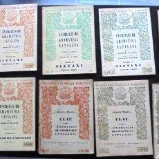 Libros antiguos: LOT 11 EXERCICIS DE GRAMÀTICA CATALANA JERONI MARVÀ COL·LECCIÓ POPULAR BARCINO. Lote 257298845