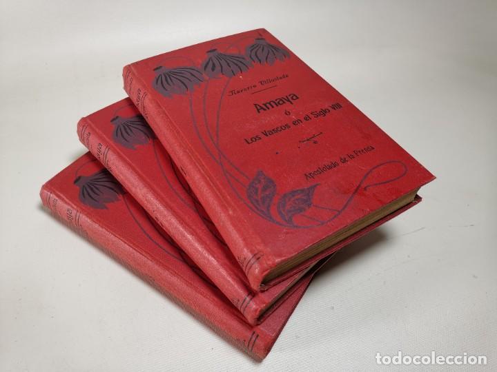 Libros antiguos: AMAYA O LOS VASCOS DEL SIGLO VIII - 3 Tomos - Año 1909---REF-MO - Foto 2 - 257321995