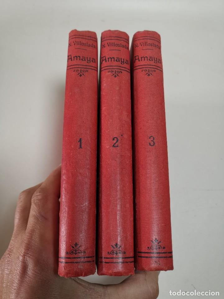 Libros antiguos: AMAYA O LOS VASCOS DEL SIGLO VIII - 3 Tomos - Año 1909---REF-MO - Foto 6 - 257321995