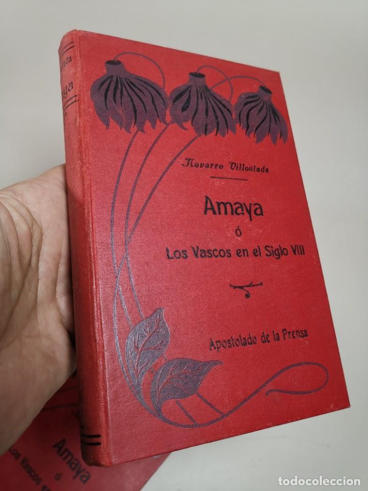 Libros antiguos: AMAYA O LOS VASCOS DEL SIGLO VIII - 3 Tomos - Año 1909---REF-MO - Foto 14 - 257321995