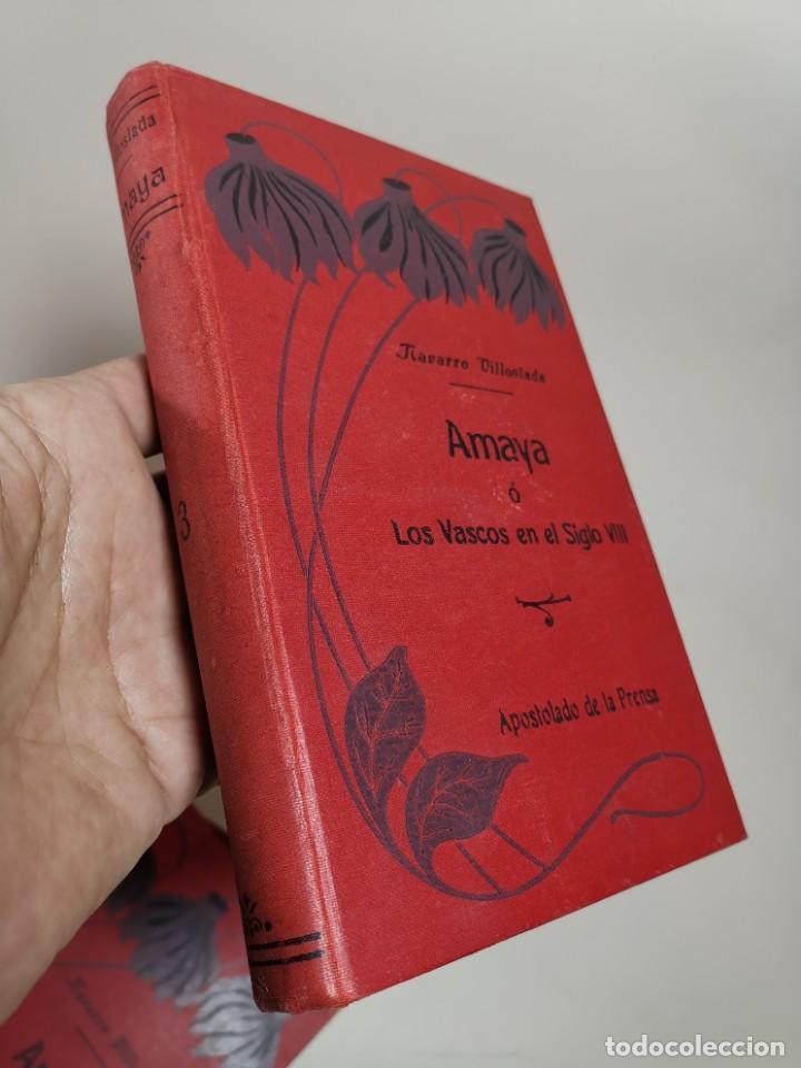 Libros antiguos: AMAYA O LOS VASCOS DEL SIGLO VIII - 3 Tomos - Año 1909---REF-MO - Foto 15 - 257321995