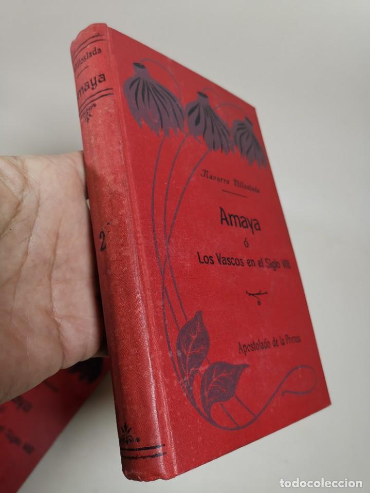 Libros antiguos: AMAYA O LOS VASCOS DEL SIGLO VIII - 3 Tomos - Año 1909---REF-MO - Foto 17 - 257321995
