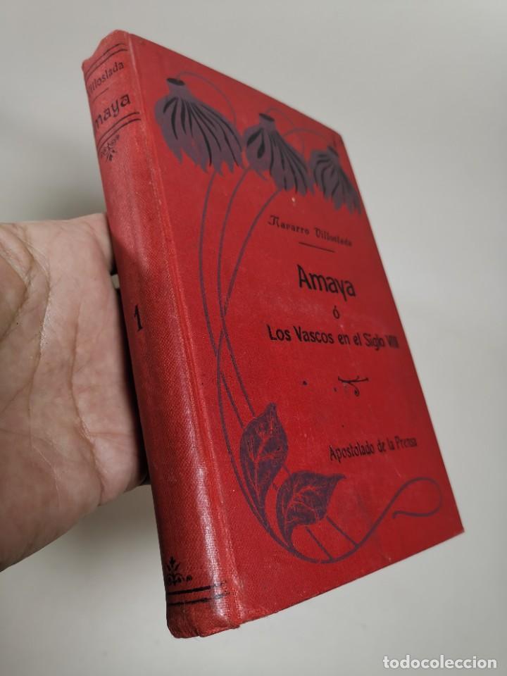 Libros antiguos: AMAYA O LOS VASCOS DEL SIGLO VIII - 3 Tomos - Año 1909---REF-MO - Foto 18 - 257321995