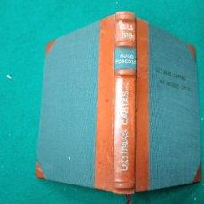 Libros antiguos: HUGO FOSCOLO. ULTIMAS CARTAS DE JACOBO ORTIZ. 1920. BELLA ENCUADERNACION EN MEDIA PIEL CON NERVIOS.. Lote 257400870