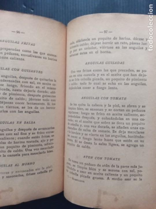 Libros antiguos: RAMILLETE DEL AMA DE CASA. CONTIENE FÓRMULAS DE COCINA Y REPOSTERÍA.(1934) - Foto 3 - 257596940