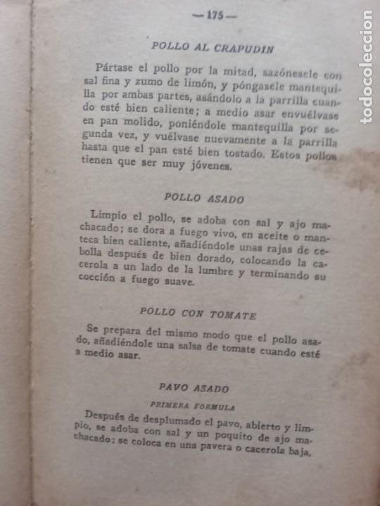Libros antiguos: RAMILLETE DEL AMA DE CASA. CONTIENE FÓRMULAS DE COCINA Y REPOSTERÍA.(1934) - Foto 4 - 257596940