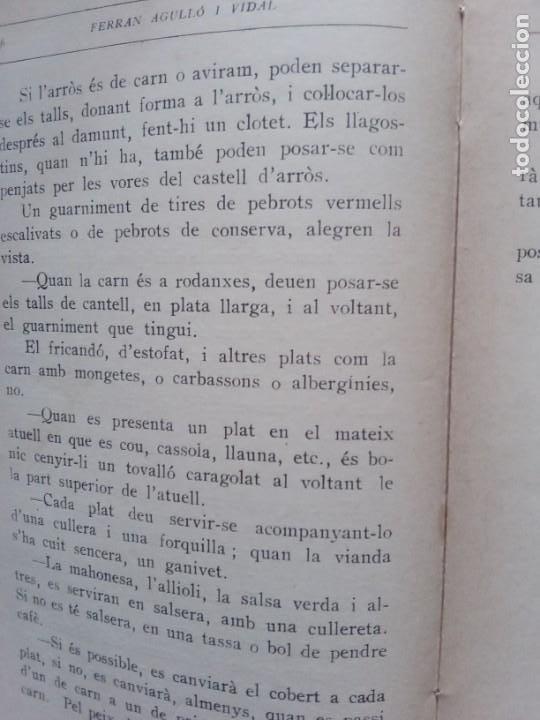 Libros antiguos: LLIBRE DE LA CUINA CATALANA - FERRAN AGULLO I VIDAL (POL) - AÑO 1928. LLIBRE DE LA CUINA CATALANA - - Foto 2 - 257597430