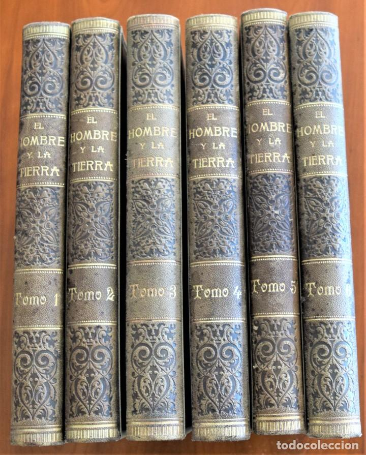 EL HOMBRE Y LA TIERRA - ELISEO RECLUS - CASA EDITORIAL MAUCCI, BARCELONA - 6 TOMOS COMPLETA (Libros Antiguos, Raros y Curiosos - Historia - Otros)