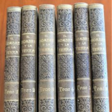 Libros antiguos: EL HOMBRE Y LA TIERRA - ELISEO RECLUS - CASA EDITORIAL MAUCCI, BARCELONA - 6 TOMOS COMPLETA. Lote 257650475