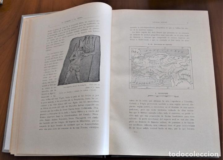 Libros antiguos: EL HOMBRE Y LA TIERRA - ELISEO RECLUS - CASA EDITORIAL MAUCCI, BARCELONA - 6 TOMOS COMPLETA - Foto 10 - 257650475
