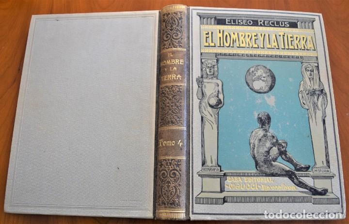 Libros antiguos: EL HOMBRE Y LA TIERRA - ELISEO RECLUS - CASA EDITORIAL MAUCCI, BARCELONA - 6 TOMOS COMPLETA - Foto 18 - 257650475