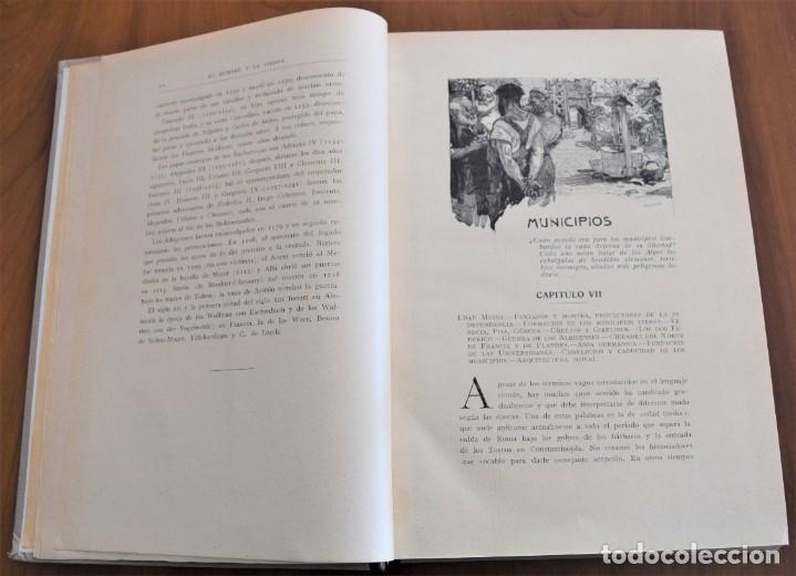 Libros antiguos: EL HOMBRE Y LA TIERRA - ELISEO RECLUS - CASA EDITORIAL MAUCCI, BARCELONA - 6 TOMOS COMPLETA - Foto 19 - 257650475