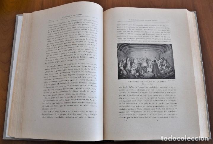 Libros antiguos: EL HOMBRE Y LA TIERRA - ELISEO RECLUS - CASA EDITORIAL MAUCCI, BARCELONA - 6 TOMOS COMPLETA - Foto 28 - 257650475