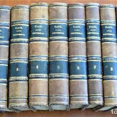 Libros antiguos: HISTORIA UNIVERSAL - CÉSAR CANTÚ - 1854 A 1859 - 10 TOMOS COMPLETA - MADRID, GASPAR Y ROIG EDITORES. Lote 257655180