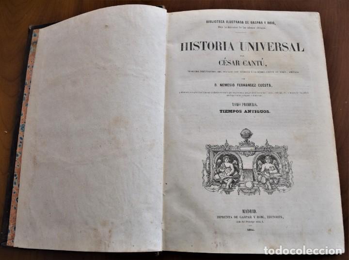 Libros antiguos: HISTORIA UNIVERSAL - CÉSAR CANTÚ - 1854 A 1859 - 10 TOMOS COMPLETA - MADRID, GASPAR Y ROIG EDITORES - Foto 5 - 257655180