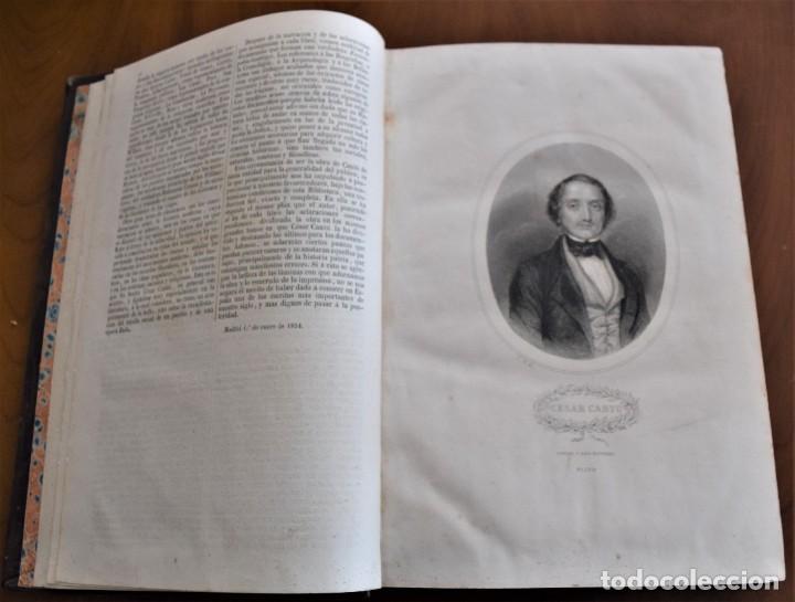 Libros antiguos: HISTORIA UNIVERSAL - CÉSAR CANTÚ - 1854 A 1859 - 10 TOMOS COMPLETA - MADRID, GASPAR Y ROIG EDITORES - Foto 6 - 257655180