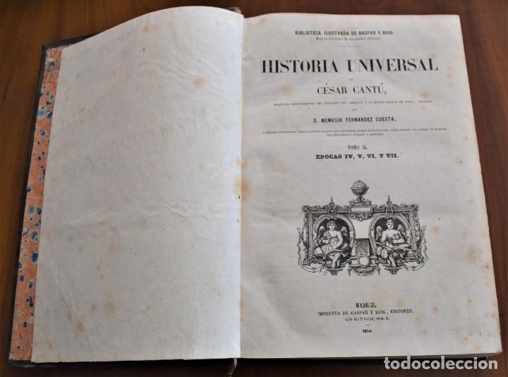 Libros antiguos: HISTORIA UNIVERSAL - CÉSAR CANTÚ - 1854 A 1859 - 10 TOMOS COMPLETA - MADRID, GASPAR Y ROIG EDITORES - Foto 13 - 257655180