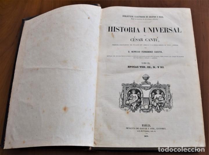 Libros antiguos: HISTORIA UNIVERSAL - CÉSAR CANTÚ - 1854 A 1859 - 10 TOMOS COMPLETA - MADRID, GASPAR Y ROIG EDITORES - Foto 24 - 257655180