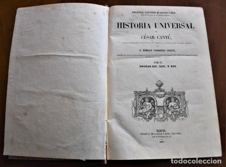 Libros antiguos: HISTORIA UNIVERSAL - CÉSAR CANTÚ - 1854 A 1859 - 10 TOMOS COMPLETA - MADRID, GASPAR Y ROIG EDITORES - Foto 32 - 257655180