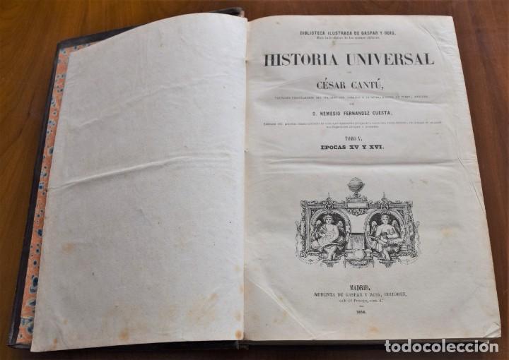 Libros antiguos: HISTORIA UNIVERSAL - CÉSAR CANTÚ - 1854 A 1859 - 10 TOMOS COMPLETA - MADRID, GASPAR Y ROIG EDITORES - Foto 41 - 257655180